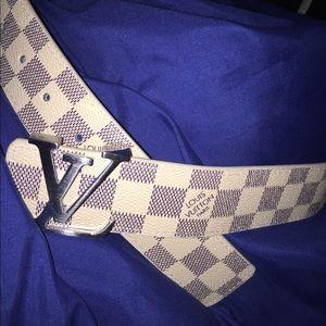 White Azur Louis Vuitton Belt.
